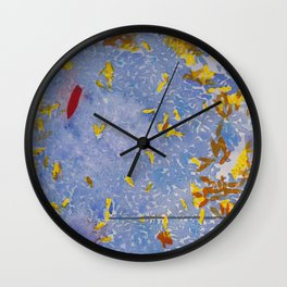 Blue Jungle Wall Clock