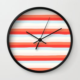 lumpy or bumpy lines abstract and colorful - QAB266 Wall Clock