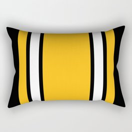 Pittsburgh Black And Yellow Abstract Rectangular Pillow