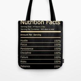 Success Nutrition Facts Motivational Tote Bag