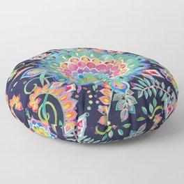 Color Celebration Mandala Floor Pillow