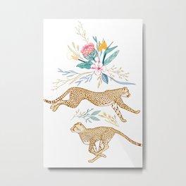Weightless Cheetahs in Boundless Safari  Metal Print