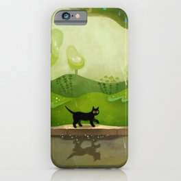 Kitty on a rainy day iPhone Case
