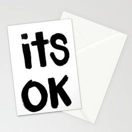 Its Ok (White) Stationery Cards