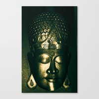 buddah Canvas Prints featuring Buddah Face by Gloria Betancur
