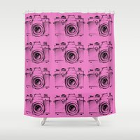 cameras Shower Curtains featuring Cameras by Lara Fotografica