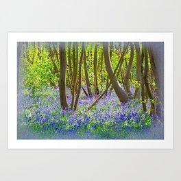 BLUEBELL JOY Art Print