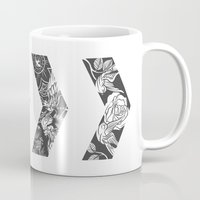 cyrilliart Mugs featuring Liam's Chevrons by Cyrilliart