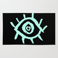 evil eye Area & Throw Rugs featuring Evil Eye by schillustration