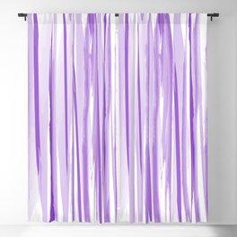 Purple watercolor striped pattern Blackout Curtain