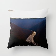 Morning View from Cooper's Rock Throw Pillow