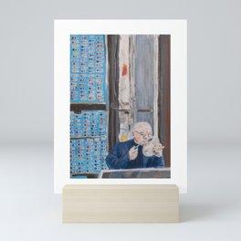The Button Salesman in Istanbul, Turkey Mini Art Print