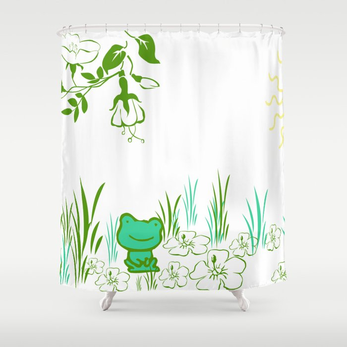 Pete The Frog Shower Curtain