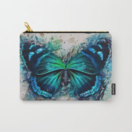 Blue Butterfly Art Carry-All Pouch