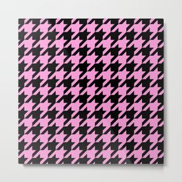 Houndstooth Pattern Black and White 526 Metal Print