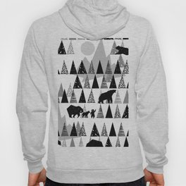Black and white Forest Hoody