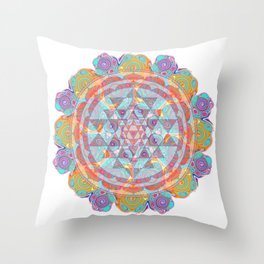 Serendipity Sri yantra Throw Pillow