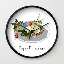 Happy Hollandaise Wall Clock