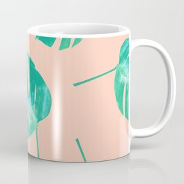 Pink Split Leaf Coffee Mug