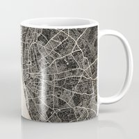 liverpool Mugs featuring liverpool map ink lines by NJ-Illustrations