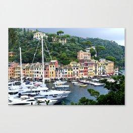 Portofino Harbour Italy Canvas Print