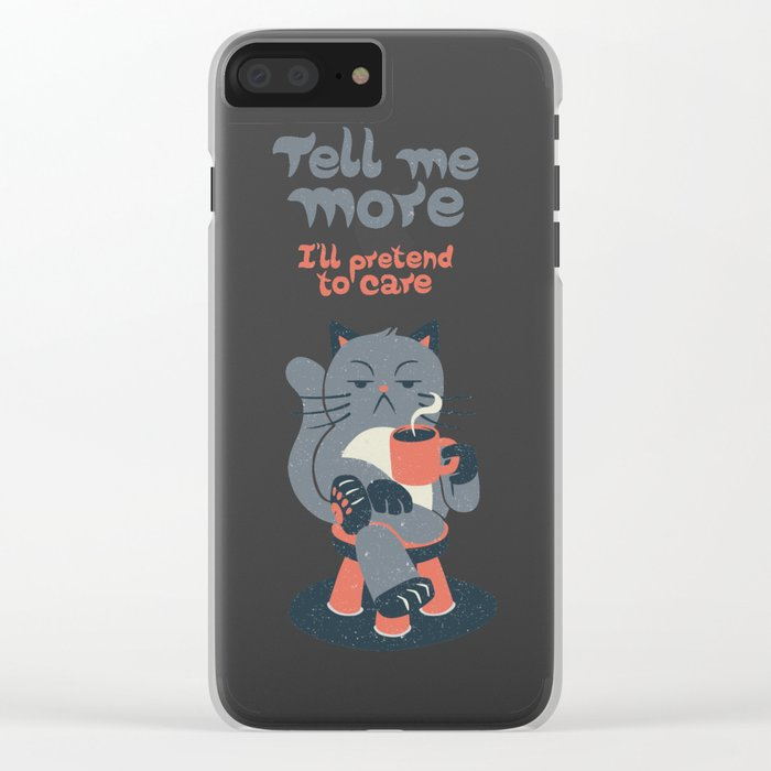 Ironicat Clear iPhone Case