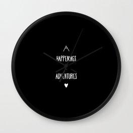 Happenings & Adventures Wall Clock