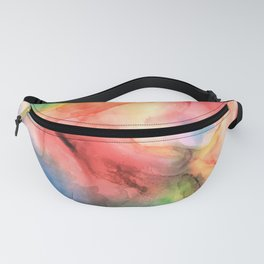 Colorful watercolor abstraction II Fanny Pack