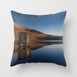 Talybont Reservoir Pump House Throw Pillow