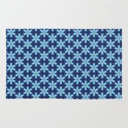 Pastel Blue Flower Rug