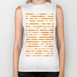 orange abstract striped pattern Biker Tank