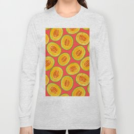 Melon slices watercolor pattern Long Sleeve T-shirt