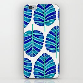 Elephant Ear Alocasia – Blue & Turquoise Palette iPhone Skin