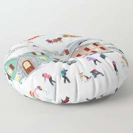 Once Upon a Winter Floor Pillow