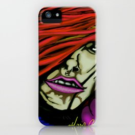 A feel for Tryna... in red iPhone Case