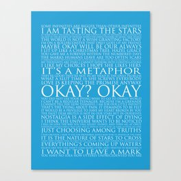 The Fault In Our Stars Block Typography Print Canvas Print
