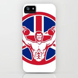 British Physical Fitness Union Jack Flag Icon iPhone Case