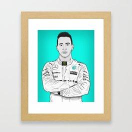 Lewis Hamilton Vector Illustration Framed Art Print