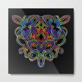 Rainbow 3-D Doodle Metal Print