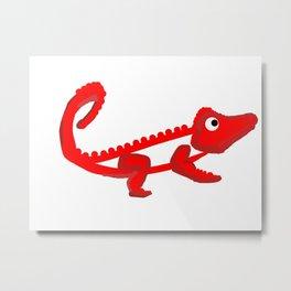 Firey croc Metal Print