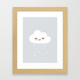 Kids, Room, Nursery, Cloud, Art, Scandinavian, Wall art Print Framed Art Print
