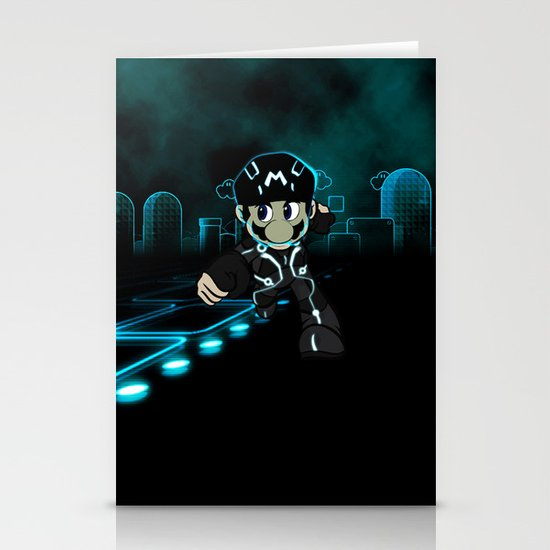 Mario Tron Stationery Cards