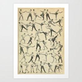 Antique Boxing Art Print