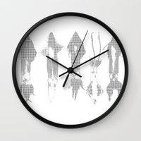 squid Wall Clocks featuring Squid by Studio ReneeBoute