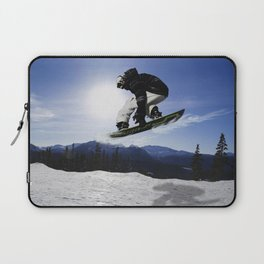 Born To Fly Snowboarder & Mountains Laptop Sleeve