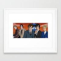 superwholock Framed Art Prints featuring SuperWhoLock by Bridget Pavalow