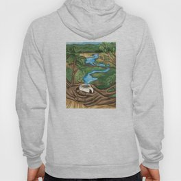 River landscape in a Coffee Cup- Pheasant Branch Conservancy Hoody