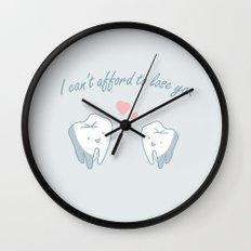 Teeth in Love  Wall Clock