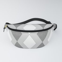 Tribal geometric pattern in white and gray. Fanny Pack