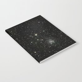 Universe Space Stars Planets Galaxy Black and White Notebook